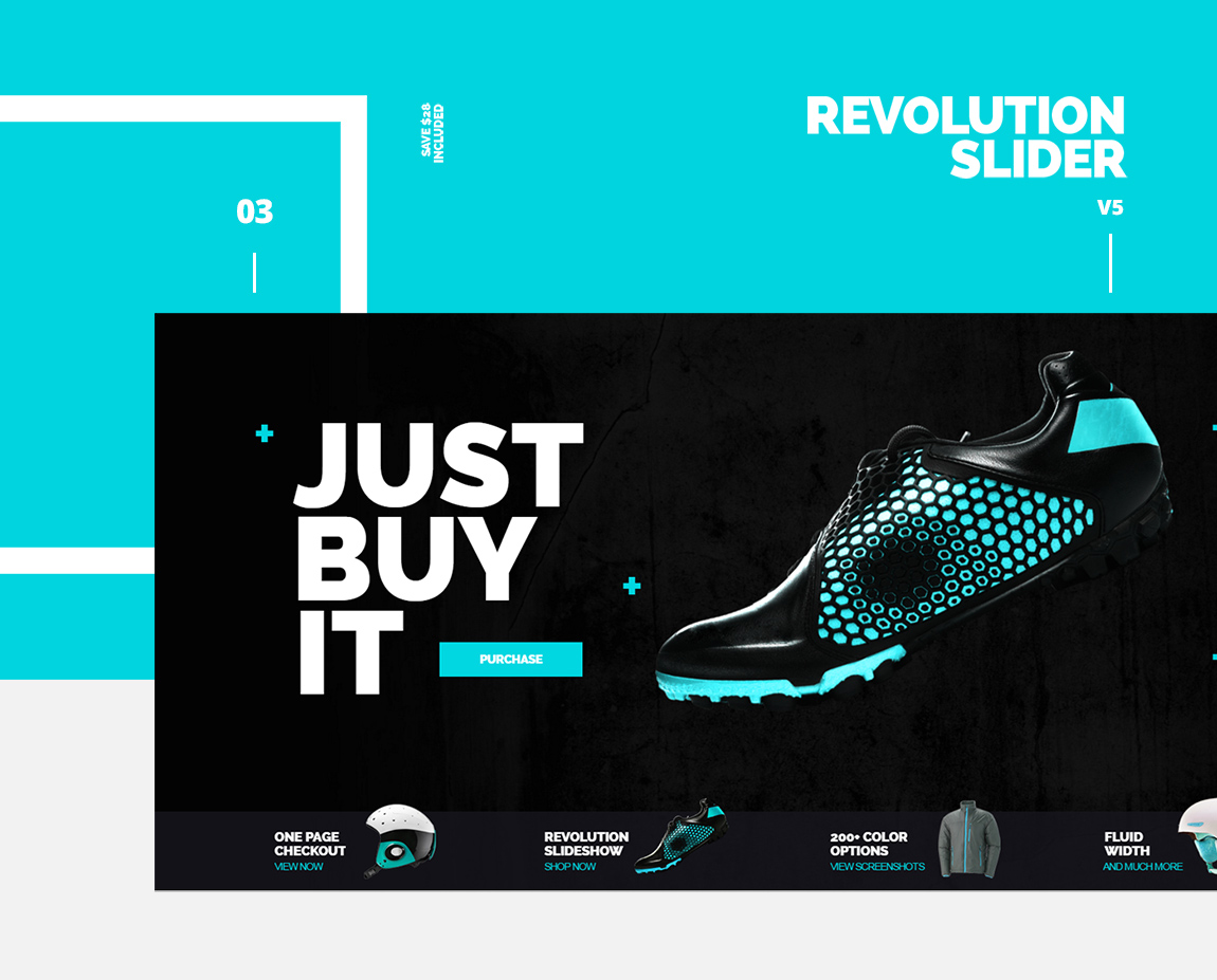 athlete magento theme revolution slider