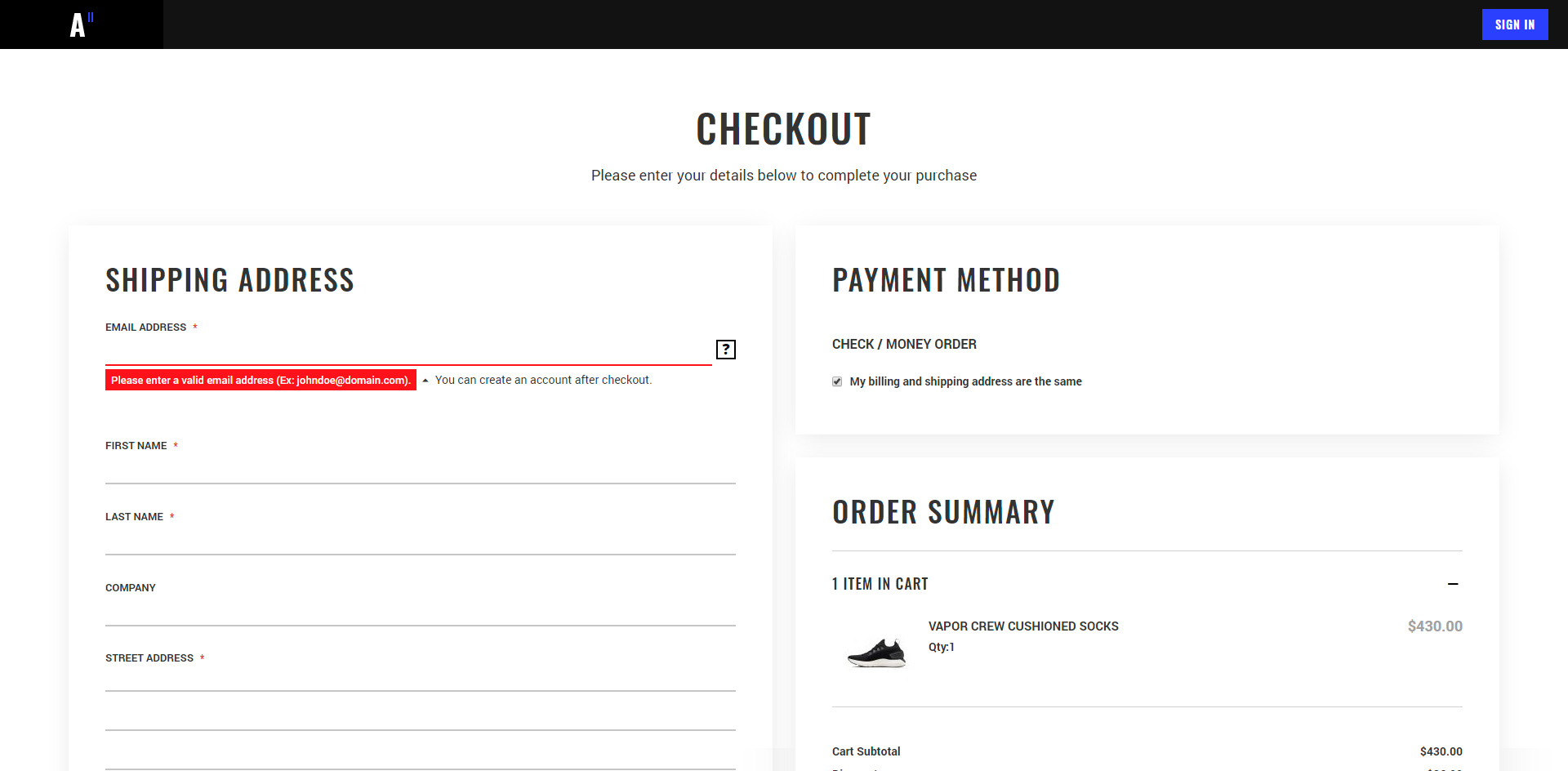 Amasty One Step Checkout for Magento 2 compatibility demonstration with Athlete2 Magento 2 Theme
