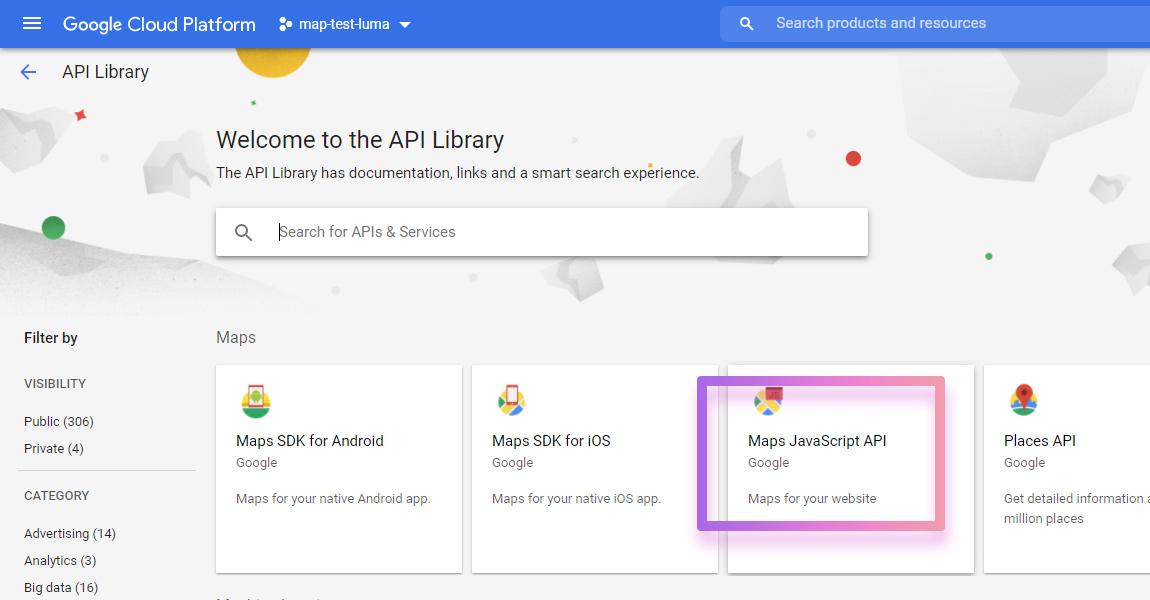 google cloud platform map javascript api
