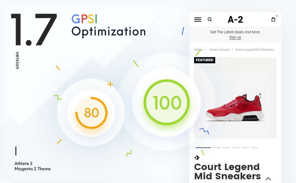 Version 1.7 Of Athlete2 Magento 2 Theme – How To Improve Page Speed Score For Mobile